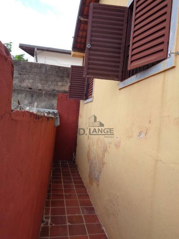 ótima casa com edícula no parque são quirino em campinas /sp. - ca12873