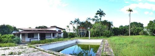 ótima chácara com 60.000 m² um rio nascente em frente ao c.t. do sport - ch0023