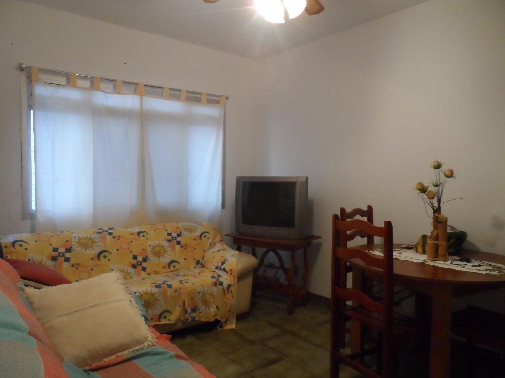 ótimo apartamento 1 dormitório - 100 metros da praia do tombo - guarujá - ap1045
