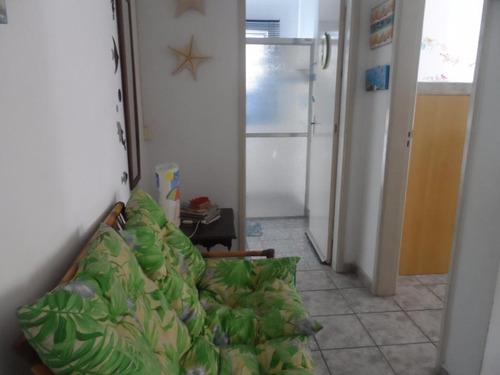 ótimo apartamento 1 dormitório a 100 metros da praia do tombo - guarujá - ap1198