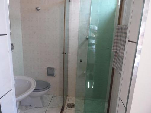 ótimo apartamento 2 dormitórios - prédio com churrasqueira - astúrias - guarujá - ap0974