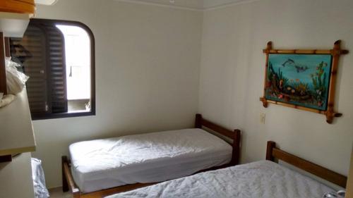 ótimo apartamento 2 dormitórios - tombo - guarujá - ap1322