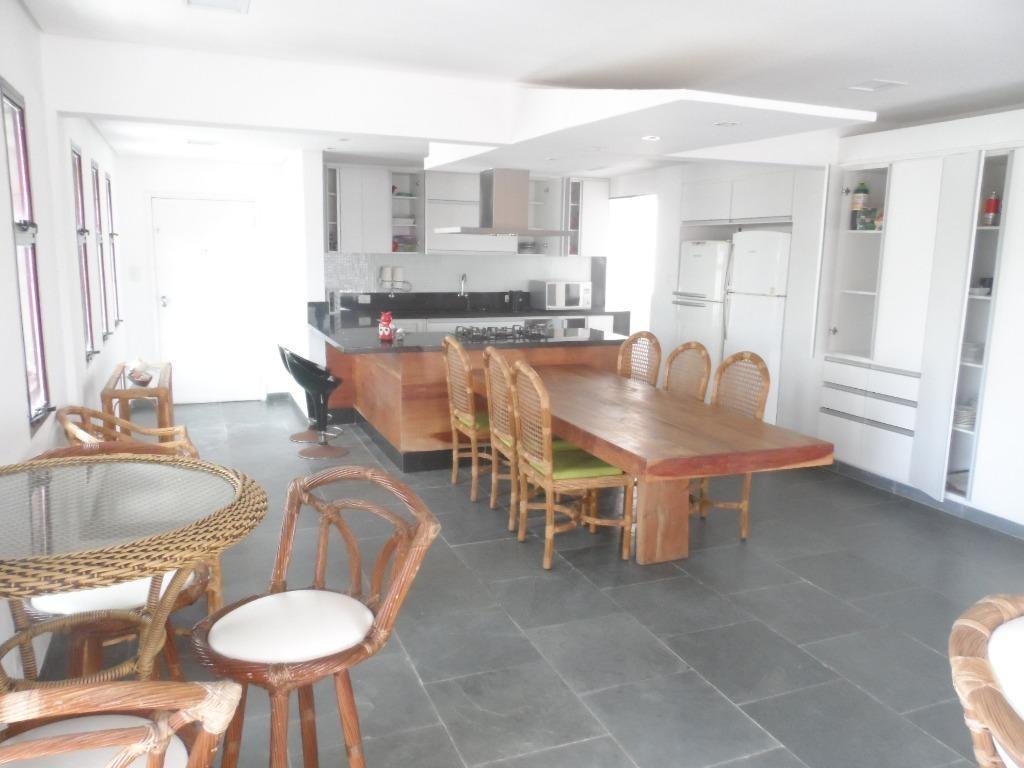 ótimo apartamento 3 dormitórios frente ao mar para venda e locação de temporada, astúrias, guarujá. - ap1332
