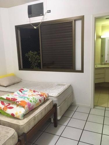 ótimo apartamento 3 suítes frente mar - locação anual e temporada - astúrias - guarujá - ap1321
