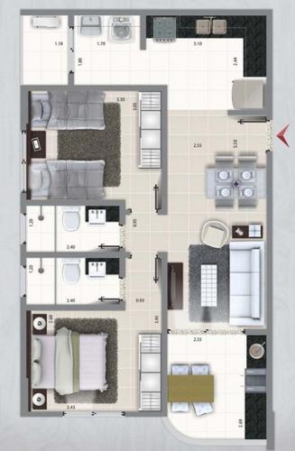 ótimo apartamento no balneário santa eugenia - ref 3302