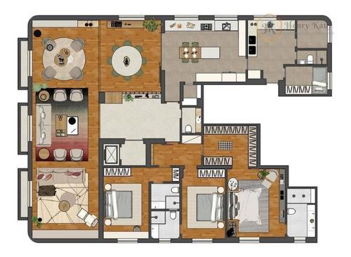 ótimo apartamento para venda no jardins, são paulo/sp. - ap1335