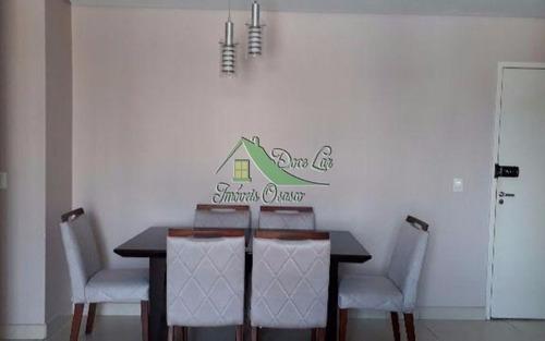 ótimo apartamento, residencial alphaview, barueri.