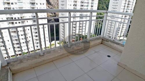 ótimo apartamento à venda, 84 m² por r$ 500.000,00 - marapé - santos/sp - ap3058