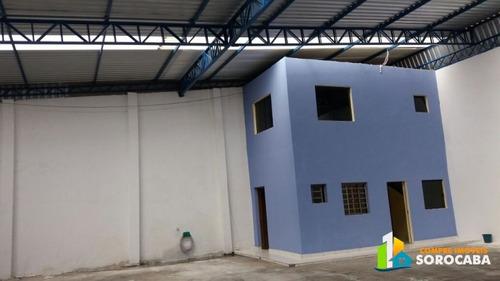 ótimo galpão com 252 m² com casa de 174 m² no total de 426 m - 215lc