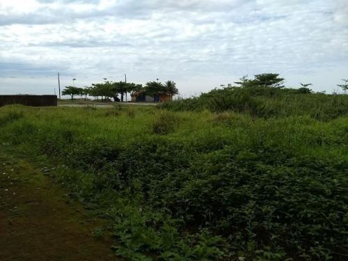 ótimo terreno aterrado de frente para a praia, escritura!