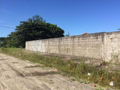 ótimo terreno de esquina e murado no balneário tupy - 4285