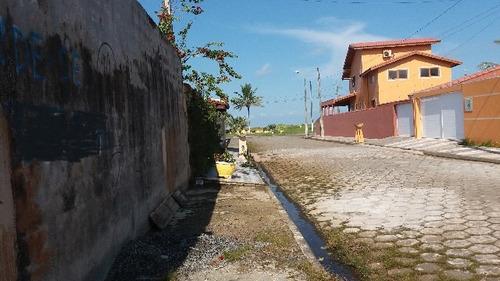 ótimo terreno de esquina lado praia, no cibratel 2, ref 4250