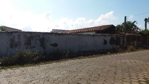 ótimo terreno murado no cibratel ii, em itanhaém - ref 4415