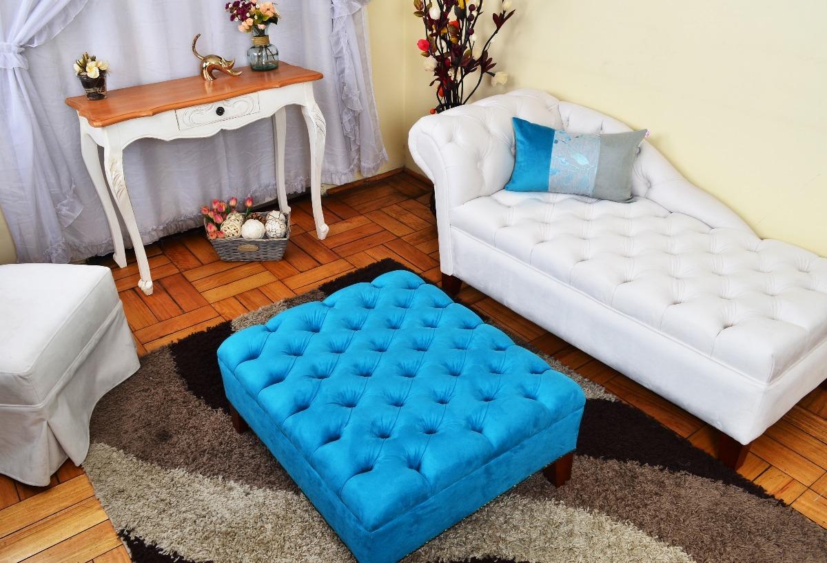 Bonito Mesa De Centro De Cuero Redondo Muebles Otomana Modelo ...