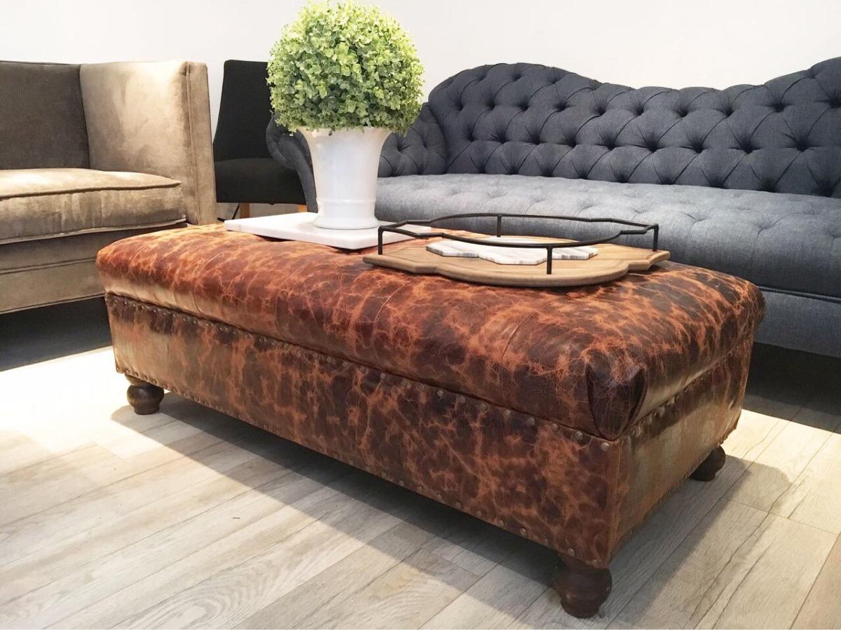 Hermosa Otomanas De Cuero En La Venta De Muebles Colección - Muebles ...