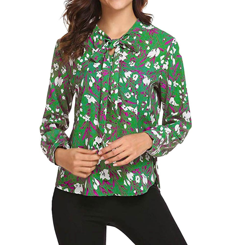 f1824f0d65 Otoño De Manga Larga Camisas Blusas Para Mujeres Floral Impr ...