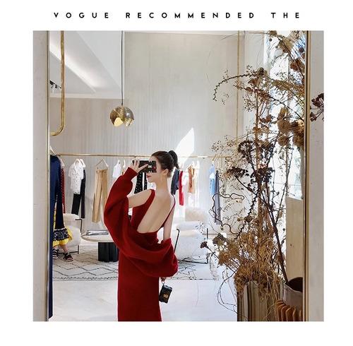 0425f6ba26 Otoño Invierno Vestido Punto Rojo -   799.00 en Mercado Libre