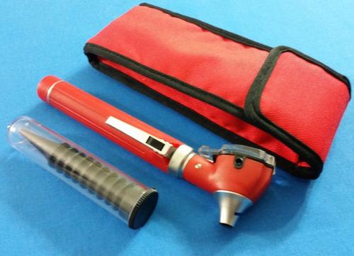 otoscopio red mini fibra óptica led diagnóstico + pinzas en