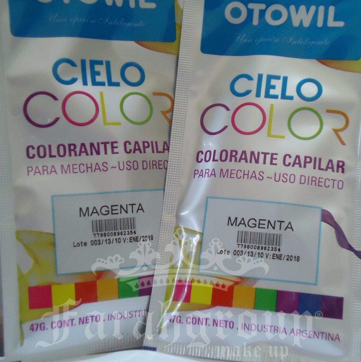 Colores fantasia para el pelo otowil