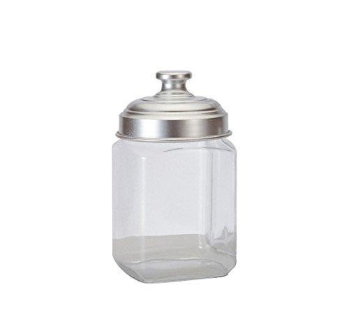 ottinetti frasco de almacenamiento de vidrio cuadrado con t