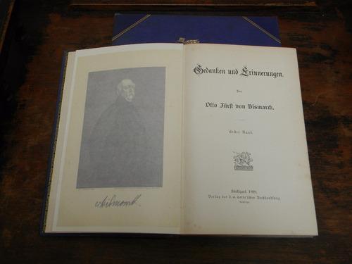 otto von bismarck  2 tomos en aleman 1898