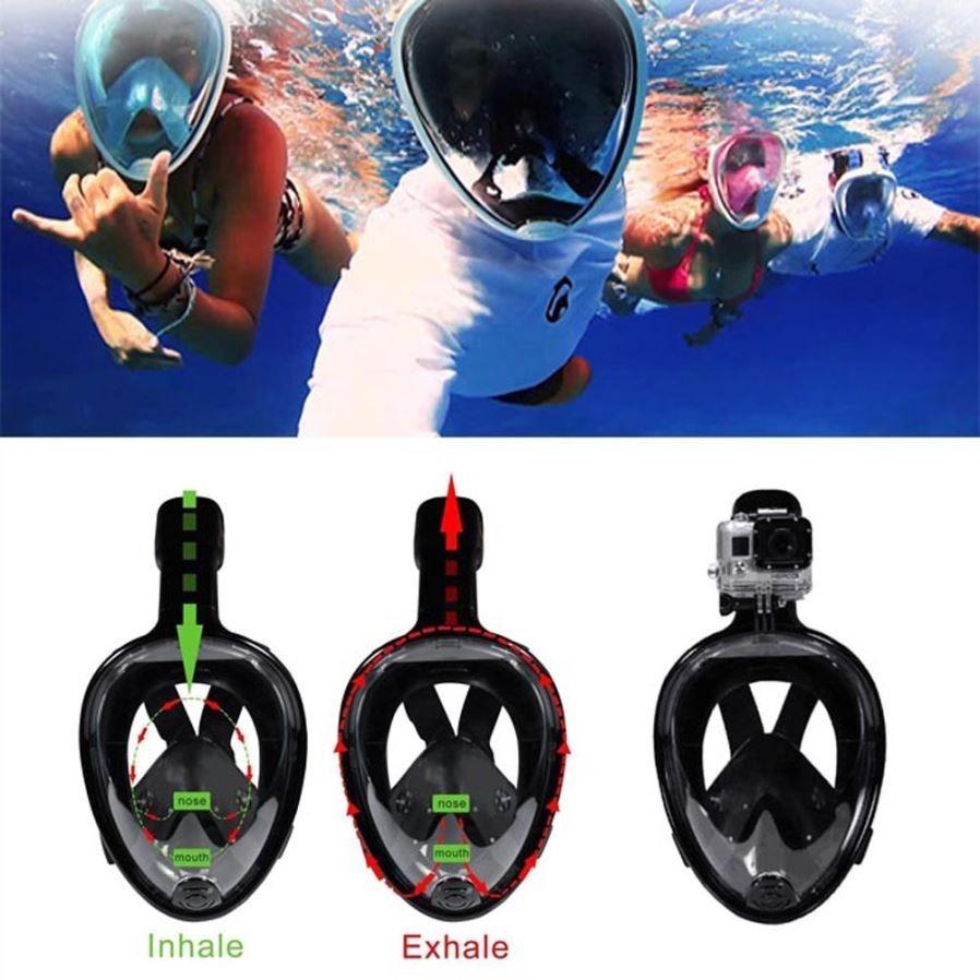41482200b oumily s-m full face snorkeling diving máscara de natação pa. Carregando  zoom.