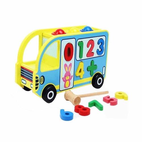 oumnibus madera bus piano juguete - niño bebe vamosajugar