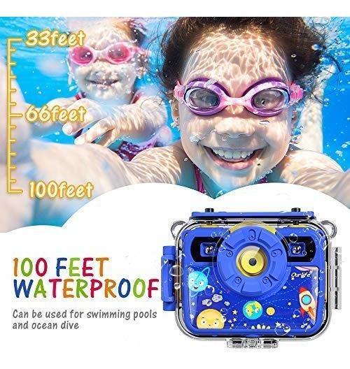 SELFIE niños impermeable las cámaras digitales para niños 1080P 8MP Ourlife niños Cámara