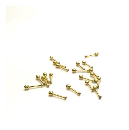 ouro 18k brilhante piercing ponto de luz cartilagem tragus