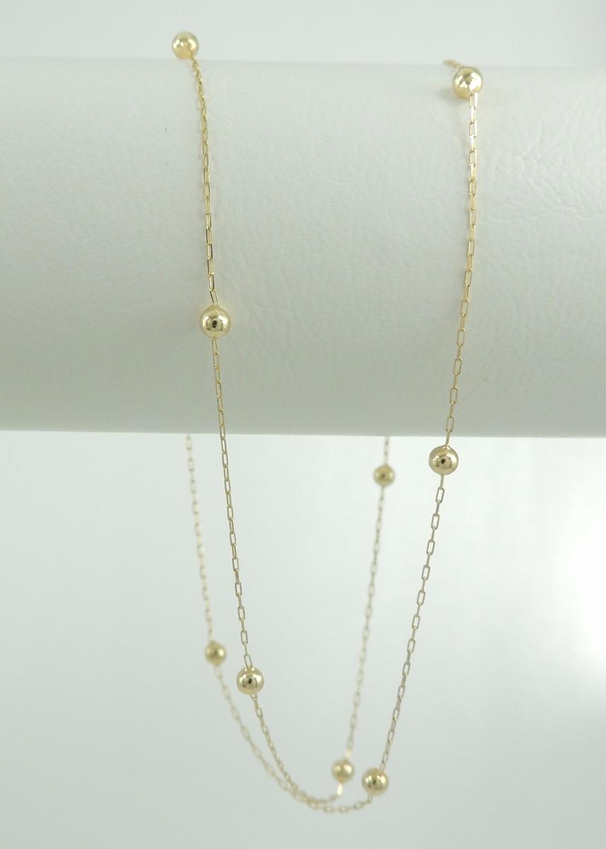 bb89f52009d Carregando zoom... gargantilha cartier bolinhas 45 cm ouro 18k 750 cordão  colar