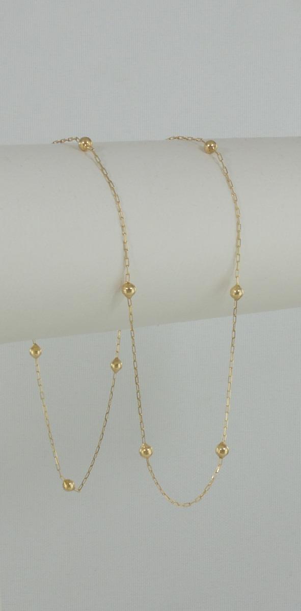 6add9efeb60 Carregando zoom... 5 gargantilha cartier bolinhas 40 cm ouro 18k cordão  colar
