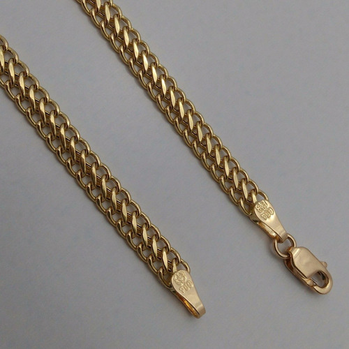 ouro elo pulseira feminina