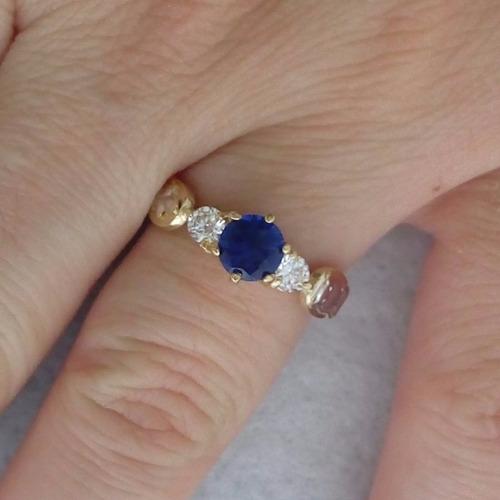 ouro feminino anel formatura