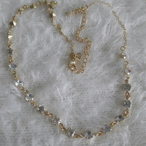 ouro joia corrente banhado