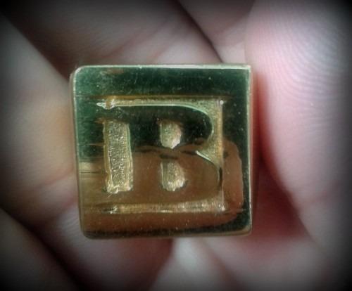 ouro letras anel letra