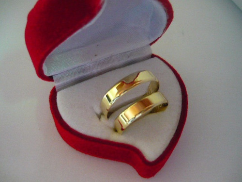 ouro puro par alianças frete gratis