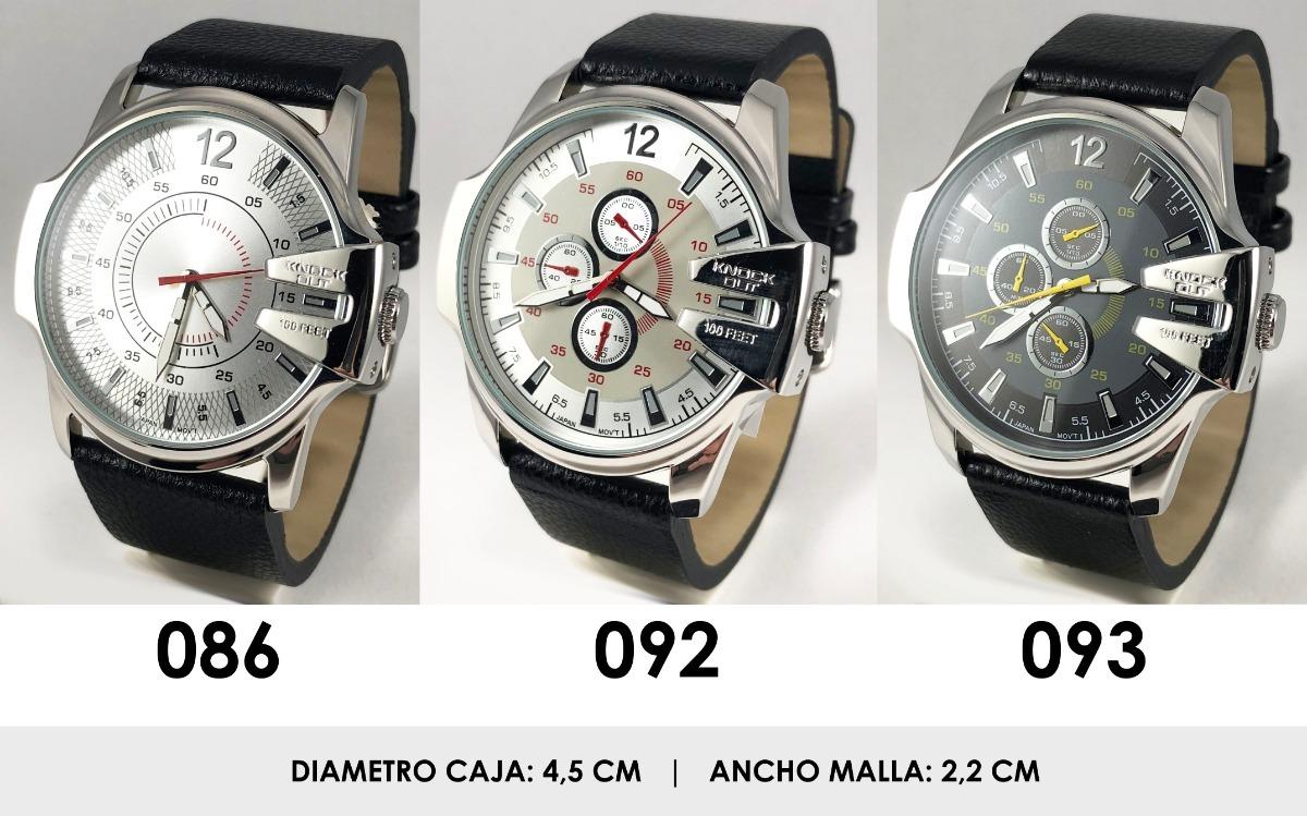 c50004f4fa8a Reloj Knock Out 2585 Malla Cuero Hombre Caballero Analogo -   1.149 ...