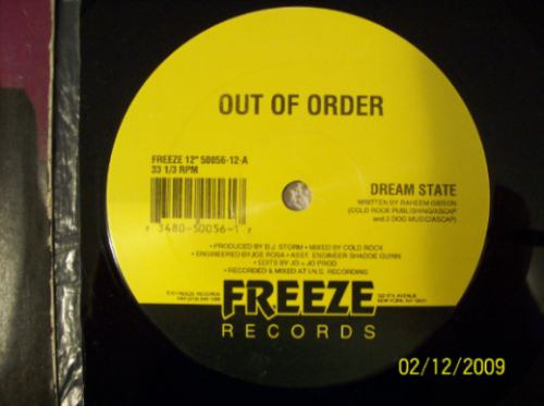 out of order  12 single  dream state    vinyl 1994
