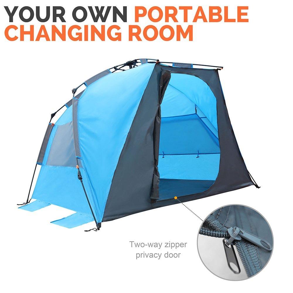 super popular 38e2f 63850 Outdoormaster Pop Up Beach Tent - Fácil De Configurar, Po
