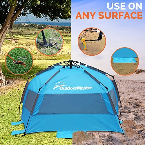 on sale 84b60 10a47 Outdoormaster Pop Up Beach Tent - Fácil De Configurar, Po...