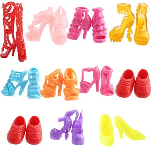 ea9cfb51e Outee 155 Pcs Barbie Doll Clothes Set Party Grown Outfit In - $ 804.00 en  Mercado Libre