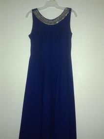 Vestidos Azul Marino Con Cola Vestidos Largo 34 En
