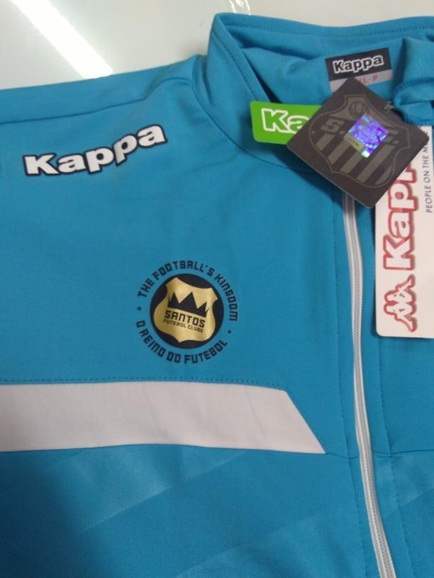 439fc86ff4136 Outlet 168 - Jaqueta Santos Force Oficial Kappa 2016 2017 - R  128 ...