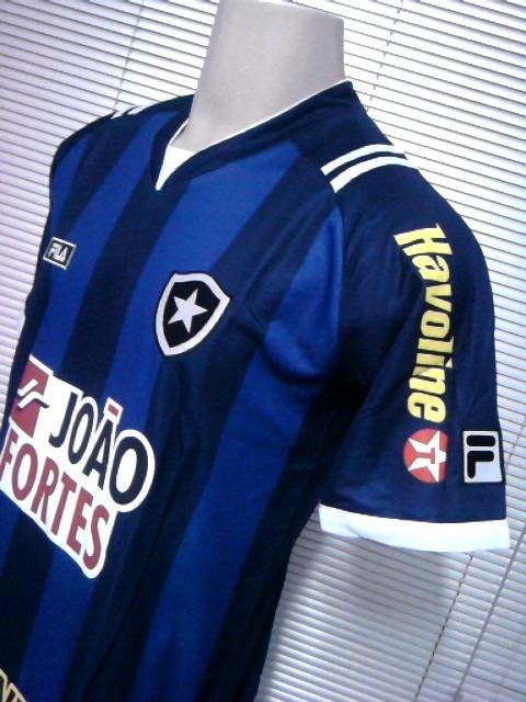 Outlet 234 Camisa Botafogo Azul Oficial 4 Fila 2011   2012 - R  79 ... 3c4f1591eee09