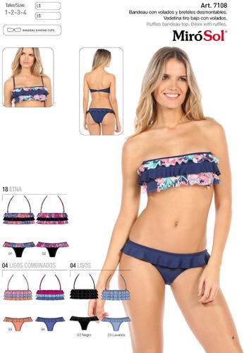 outlet bikini strapless con volados bretel 7108 miró sol