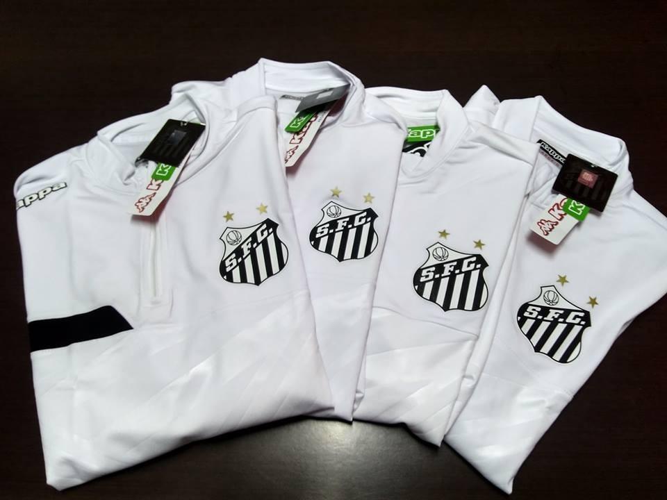b82b70ca093b8 outlet! blusa agasalho santos kappa treino oficial 2016 2017. Carregando  zoom.