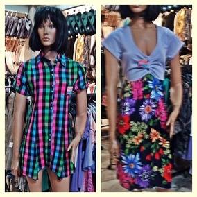 8b016d01e Telas Estampadas Para Polleras - Vestidos de Mujer M en Mercado ...