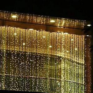 outop 300led cortina de la ventana del carámbano luces de ca
