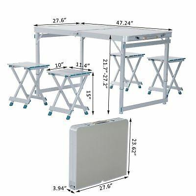outsunny picnic mesa jardín aluminio al aire libre plegable