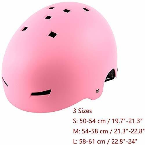 ouwoer kids - adult skateboard & bike casco, cpsc certified,